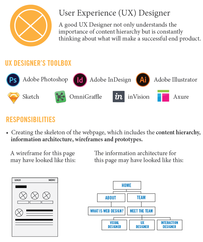 UX Experience Designer Infographic